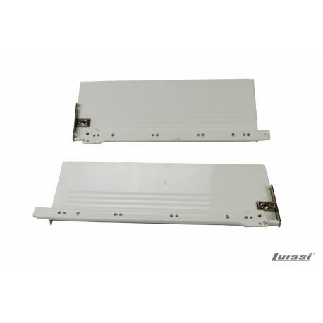 Lateral p/cajon metalico 400mm blanco con guias