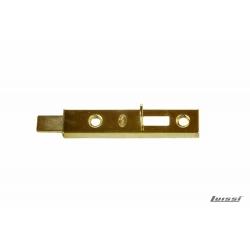 Pasador de aplicar p/placard 70mm latonado con recibidor