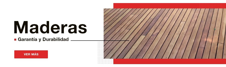 Nuestras maderas son sinónimo de garantía y durabilidad.