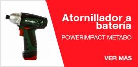 Atornillador a batería Powerimpact Metabo