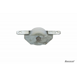Rueda nylon c/canaleta 25mm caja metalica
