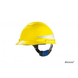 Casco H700 con reflectivo blanco arnes cremallera 3M