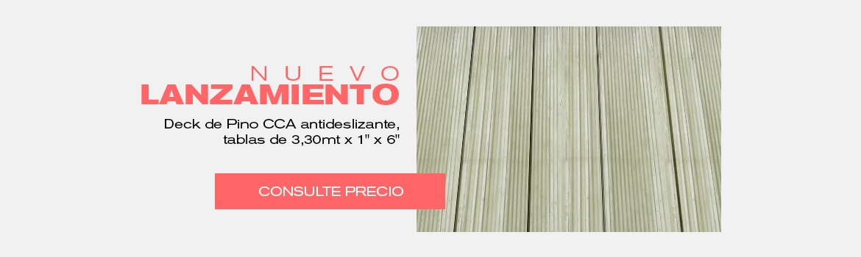 Deck de Pino CCA antideslizante