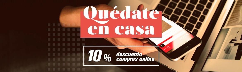 Quédate en casa - Descuentos del 10% en compras online